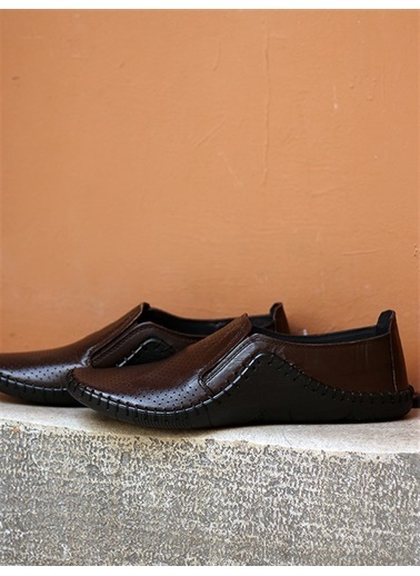 Rodrigo Bordo Deri İşlemeli Erkek Ayakkabı Kahve